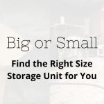 storage unit size